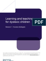 Teaching for Dyslexic Children
