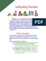 Dyslexia Reading Disorder