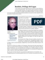 San Juan Bautista, Prólogo del Logos - José María Iraburu