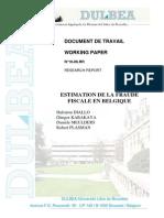Estimation de la fraude fiscale en Belgique (ULB)