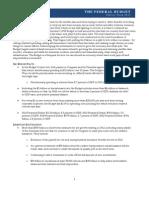 White House 2013 budget fact sheet