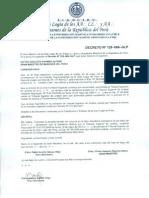 Decreto No. 128-066-GLP ¡Sentencia contra QH Umberto Toso... NULA!