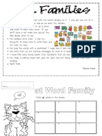 Word Family Words and Sentence Writing