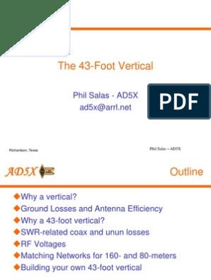 Vertical 43 Rev A | Antenna (Radio) | Coaxial Cable