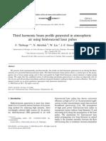 F. Theberge et al- Third harmonic beam profile generated in atmospheric air using femtosecond laser pulses