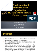 Types of Entreprneurs