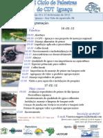 Cartaz II ciclo de Palestras CDT Iguaçu