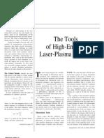 The Tools of High-Energy Laser-Plasma Physics