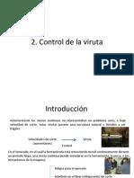 2. Control de La Viruta 2.1