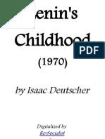 Lenin's Childhood - Isaac Deutscher
