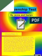 Citizenship Test FINAL PRODUCT