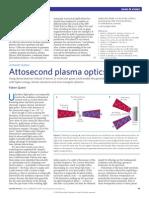 Fabien Quéré- Attosecond plasma optics