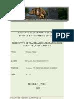 Informe de Laboratorio de Químico Física I