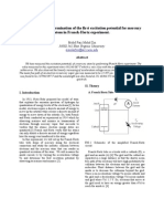 Determination of the First Excitation Potential for Mercury Atom in Franck-Hertz Experiment.
