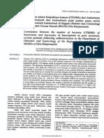 Hubungan Antara Banyaknya Kuman (Cfu Per Ml) Dari Bakteriuria Dgn Leukosit Dari Leukosituria Pd Pasien Pasca Sectio Caesarea Setelah Kateterisasi Di Bag.ob-gin Rsud Ulin in