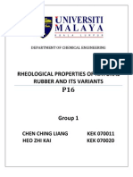 Rheological Behaviour of Natural Rubber and Its Variant
