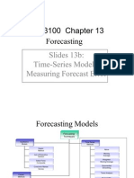 Business Analysis- Time-Series Models -Measuring Forecast Error