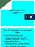 Kitab Tauhid  Fasal 4-16
