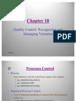 Statistics- Quality Control Recognizing and Managing Variation
