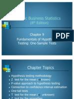 Statistics-Fundamentals of Hypothesis Testing
