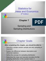 Statistics- Sampling and Distribution