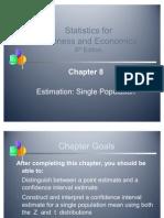 Statistics Estimation Single Population