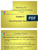 Statistics- Describing Data Numerical