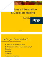 Business Information & Decision Making