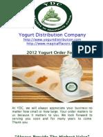 2012 Yogurt Order Form