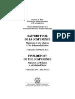 Report Migration & Religion Rabat 2005 FR+En