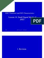 14EDCJFETSmallsignalModelLesson14