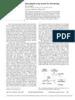 L. Rymell, M. Berglund, and H. M. Hertz- Debris-free single-line laser-plasma x-ray source for microscopy
