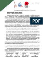 courrier commun aux parlementaires - 9 février 2012