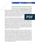 Small World Phenomenon and Clutter of Social Technologies
