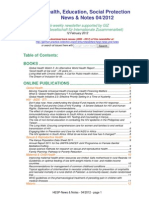 Health, Education, Social Protection News & Notes 04/2012
