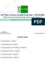 VST Tillers Tractors Ltd (NSE Code - VSTTILLERS - Katalyst Wealth Alpha Recommendation for Dec'11