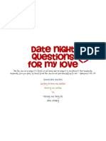 Date Night Questions for My Love - Cover