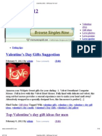 Valentine 2012 - Gift Ideas for Love!