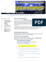 Dream Divers newsletter February 2012