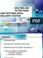 Stability of Peptides and Proteins
