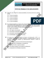 ECA - ESTATUTO DA CRIANÇA E DO ADOLESCENTE - SIMULADO 2012