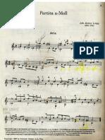 15237894 Suite Joh Anton Logy Partita aMoll Classical Guitar