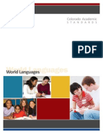 Colorado World Languages Academic Standards Approved 2010