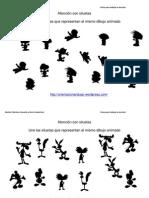 Une Las Siluetas Iguales de Dibujos Animados