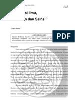 1. Islamisasi ilmu