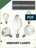 Sylvania Engineering Bulletin - Mercury Lamps 1973