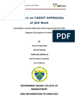 Credit Appraisal by Fawad Yaqub