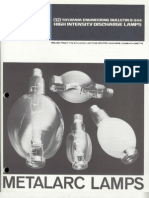 Sylvania Engineering Bulletin - Metalarc Lamps 1977