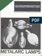 Sylvania Engineering Bulletin - Metalarc Lamps 1977