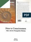 Sri Nisargadatta Maharaj ~ Prior to Consciousness